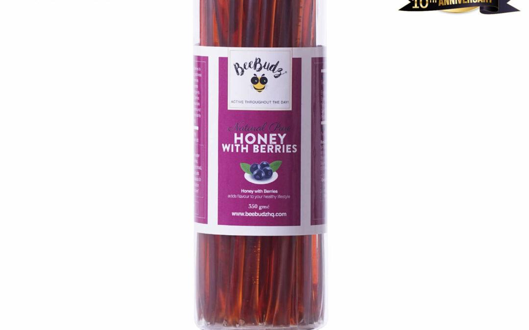 Pure Honey Sticks with Berries